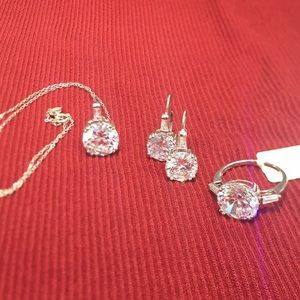 Jewelry - Sterling Silver CZ 3 Piece Set